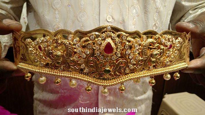 Latest gold ottiyanam designs
