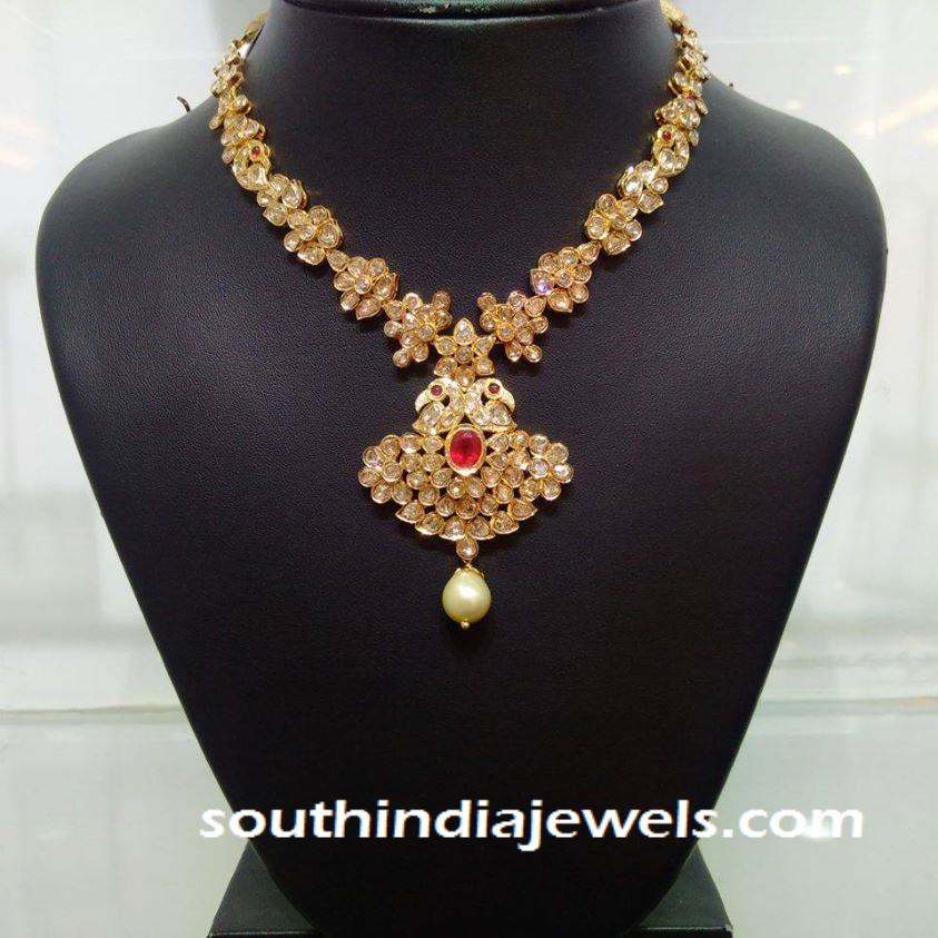 Light Weight Gold Necklace From NAJ ~ South India Jewels