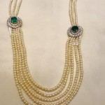 Multilayer Pearl Mala With Side Pendants
