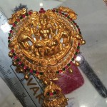 Gold Temple Jewellery Lakshmi Pendant