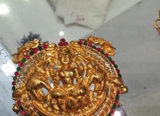 Temple Jewellery Lakshmi pendant design