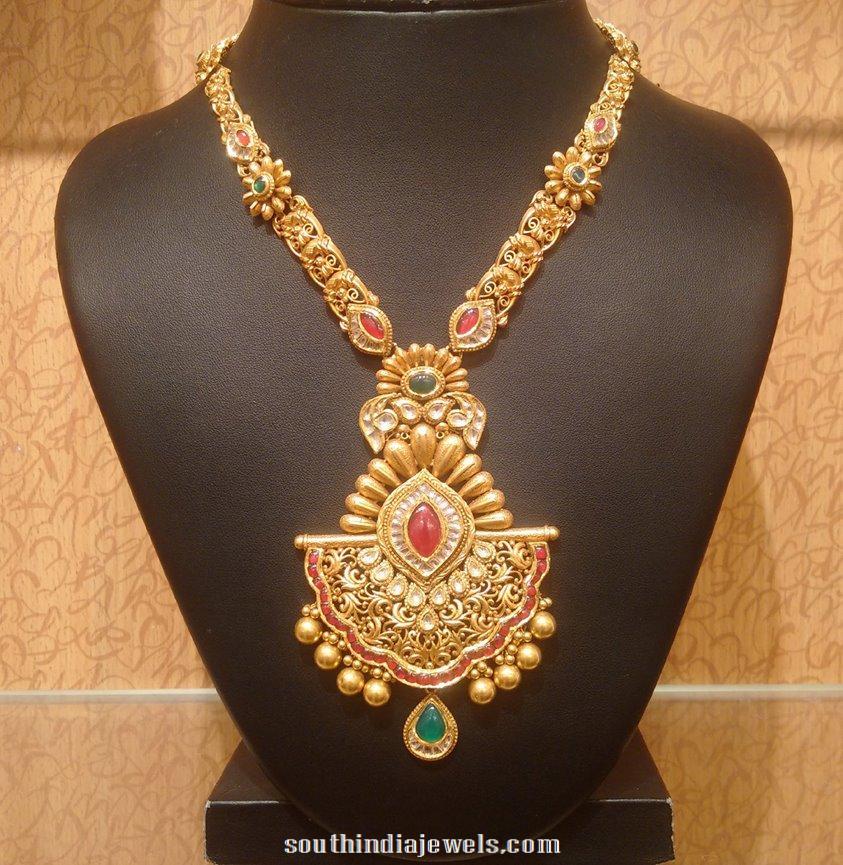 antique gold haram latest design