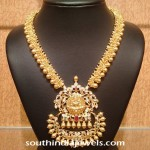 Gold Clustered Bead Temple Jewellery Necklace