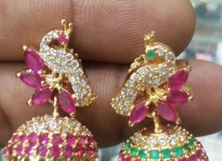 1 Gram gold stond Jhumka design