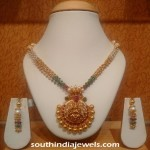 Designer Gold Beaded Necklace