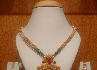 Designer gold mala necklace from NAJ Jewellery