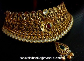 Gold antique polki choker
