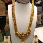 Gold Nakshi Work Long Necklace