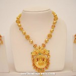 Imitation Necklace with Lakshmi Pendant