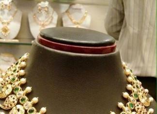 Gold Stone Mango Necklace