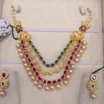 Three Layer CZ Stone Necklace