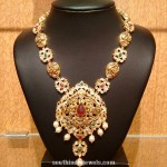 Gold Nakshi Long Necklace Design