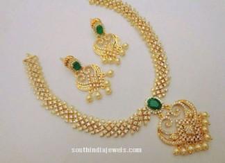 One Gram Gold CZ STone Necklace