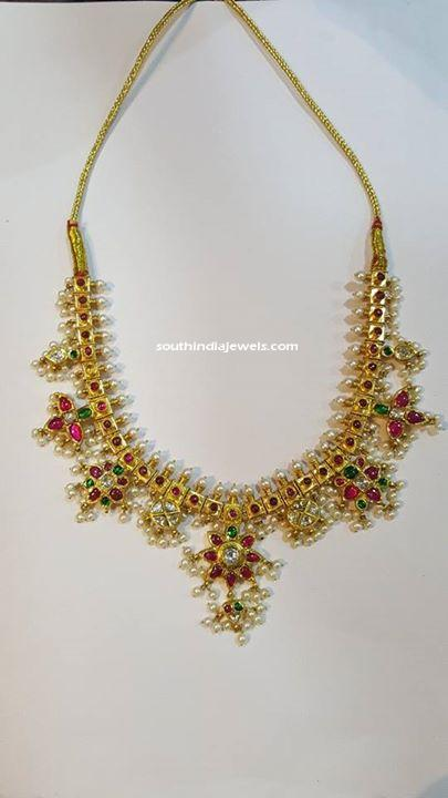 22k Gold Guttapusalu necklace from SBJ