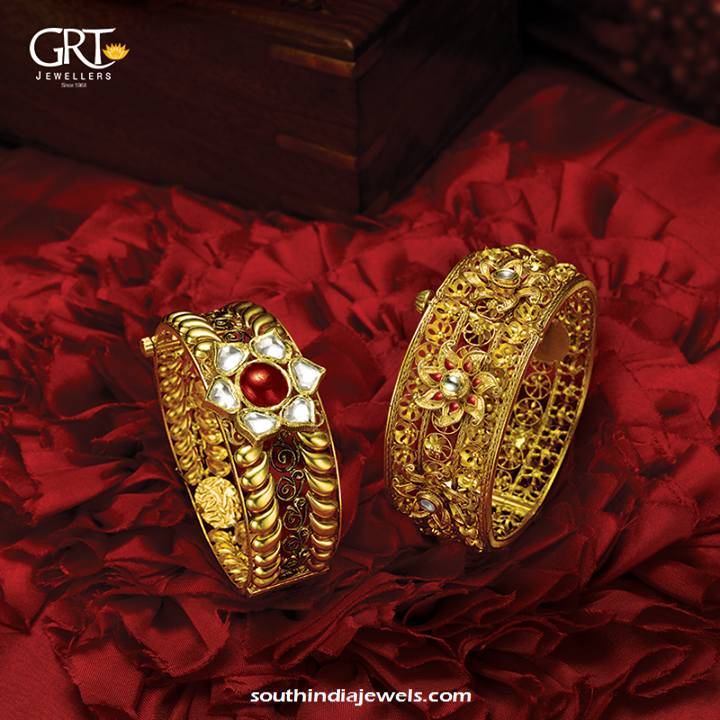 22k gold jewellery bangles from GRT