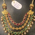 22K Gold Ruby Emerald Necklace from PSJ