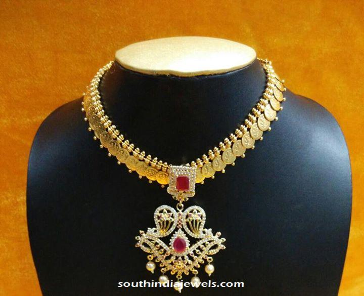 Imitation american diamond necklace