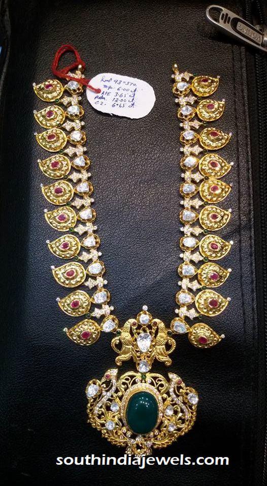 Antique Emerald Long Necklace Design