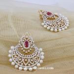 Diamond Chandbali from Manubhai Jewellers