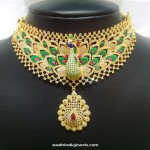 Gold Peacock CZ Stone Necklace From NAJ