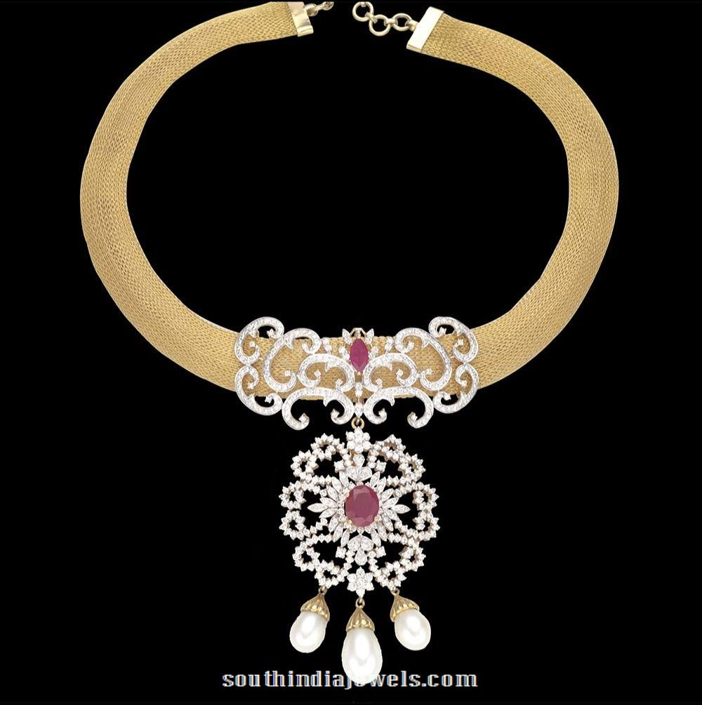 Gold Diamond Attigai design