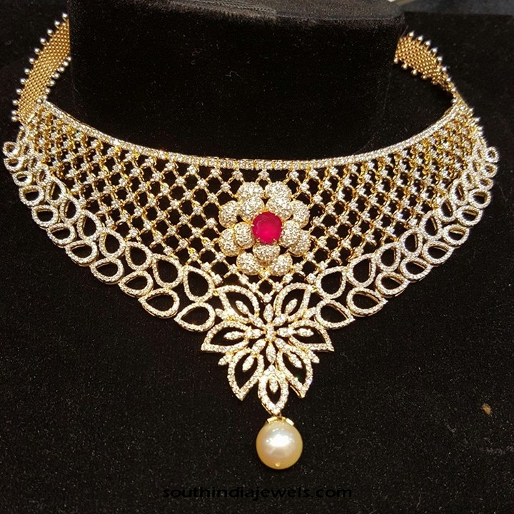 Diamond Choker Necklace from Sri Balaji Jewellers