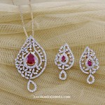 Diamond Pendant and Earrings from Manubhai