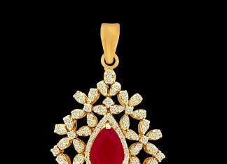 Diamond pendant model from Kothari Jewellery