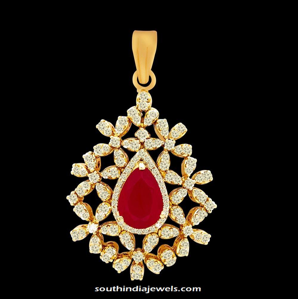 vummidi pendant jewellery bangaru diamond set stones jewellers changeable pin