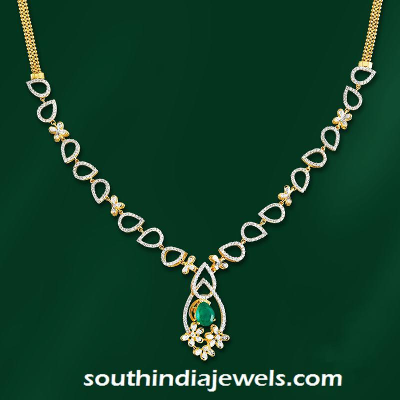 bd34eff073bcf Stylish Designer Diamond Necklace ~ South India Jewels