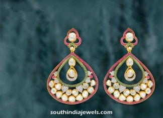 Gold Dangler from Kalajee Jewellery