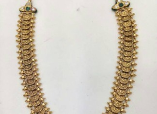 Gold Kundan Kasumalai Necklace Design