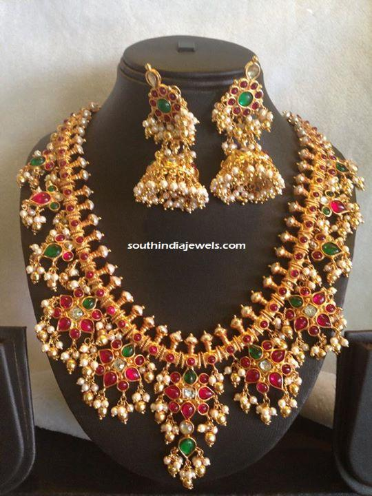 Gold Plated Guttapusalu pearl Necklace