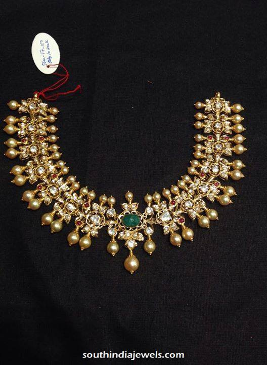 Gold Polki Necklace Latest Model 2015