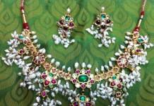 Guttapusalu gold pearl necklace