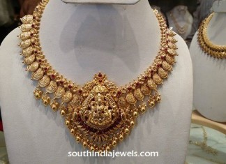Latest gold temple Jewellery Necklace
