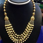 Gold Multilayer Pearl Necklace