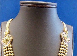 Multilayer Gold Ball Necklace with side mogappu