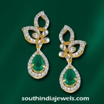 Fancy Diamond Emerald Earrings from GRT
