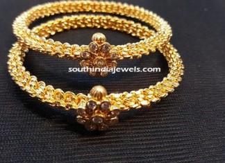 Adjustable gold diamond bangles
