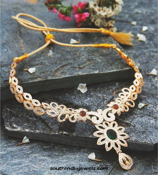 Gold Designer Necklace from Manubhai Jewellers