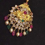 Gold Ruby Emerald Pendant
