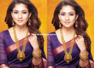 Nayanthara in GRT Jewellers gold jewelleries