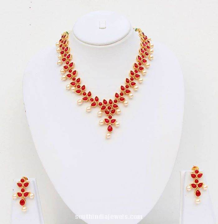Artificial Pearl Polki Necklace