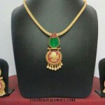 One Gram Gold Ruby Short Necklace