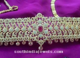 1 gram gold vadanam aka ottiyanam design