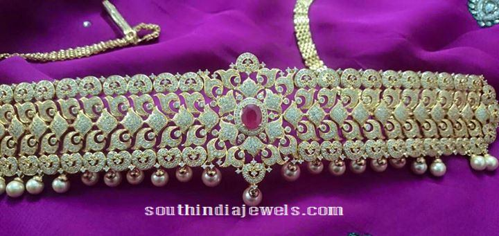 1 Gram Gold Vadanam with Price South India Jewels