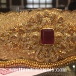 Gold Bridal Ottiyaman with weight details
