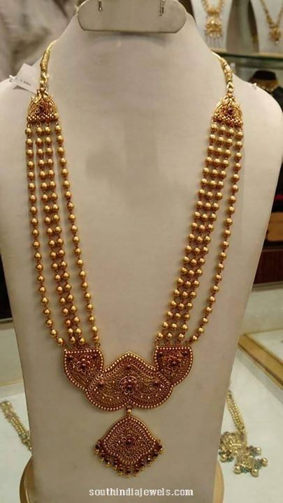 22 carat gold multilayer ball haram