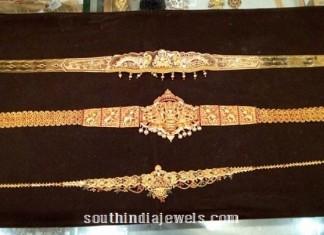 22k gold antique vadanam designs
